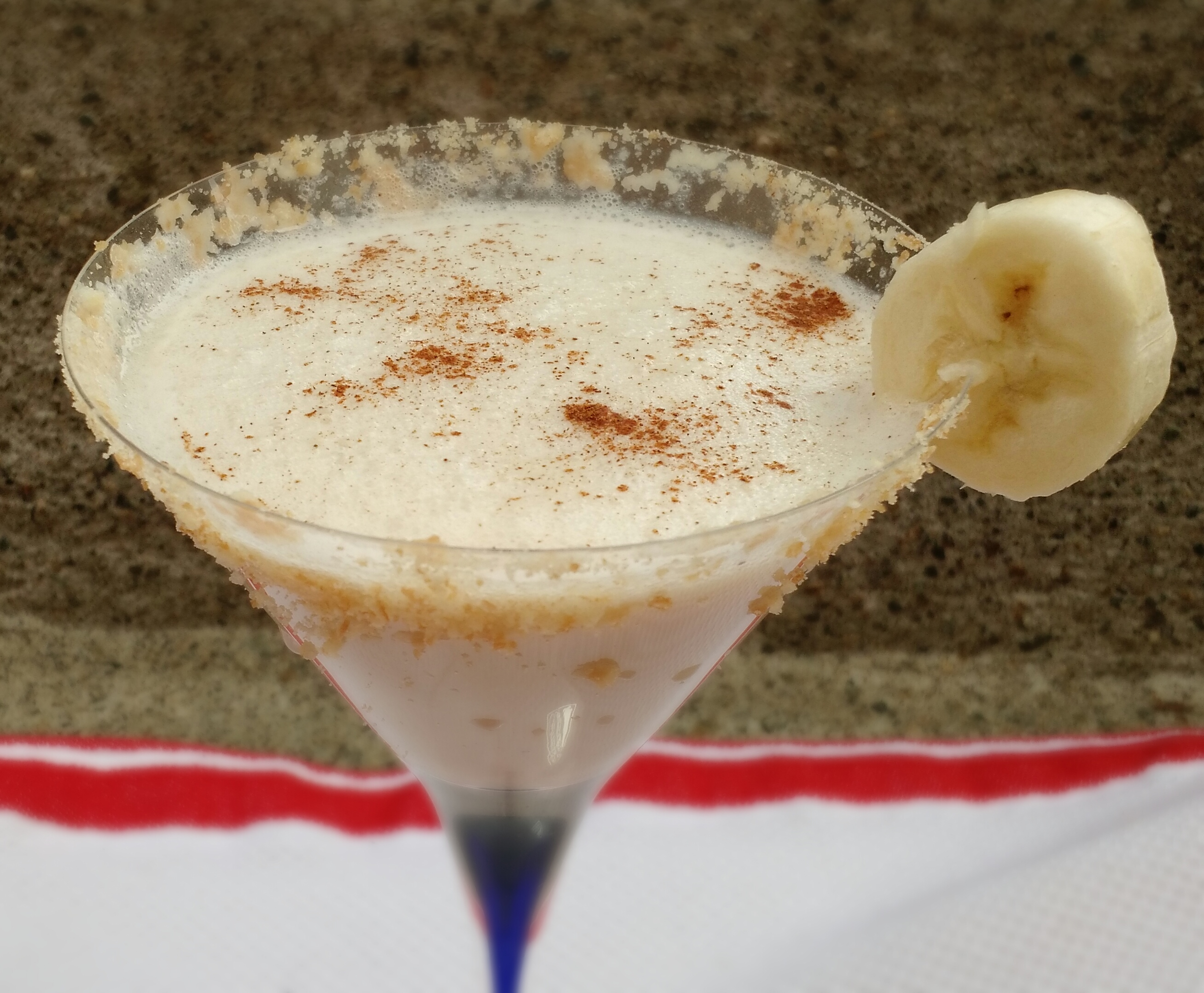 Liquid Banana Pudding Cocktail And Blue Chair Bay Rum